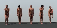 3D girls woman