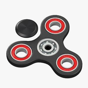 tri spinner fidget model