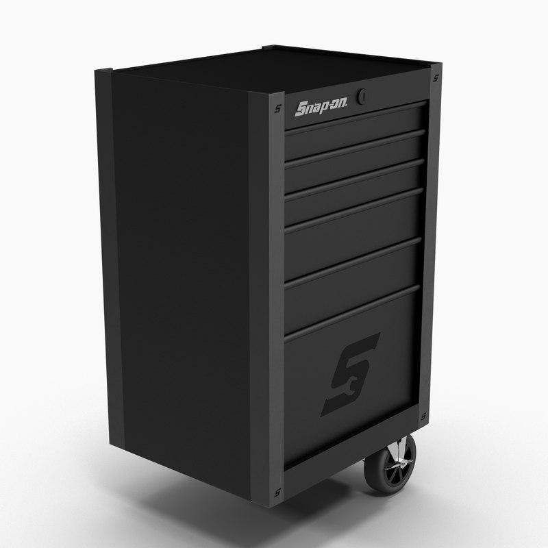 tool storage end black 3D model