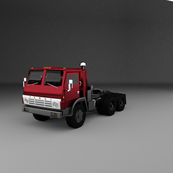 3D kamaz truck