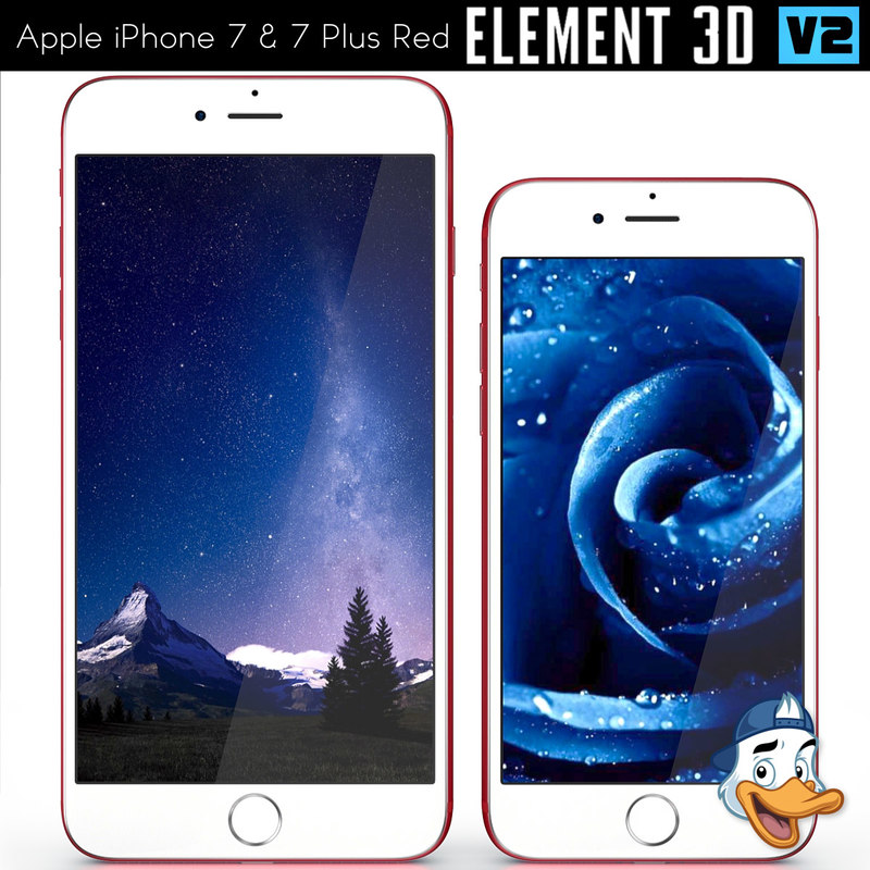 apple iphone 7 red 3D