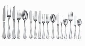 3D table cutlery 17 items