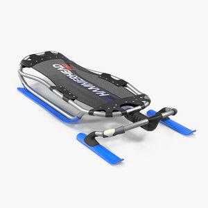 lying snow sled 3D model