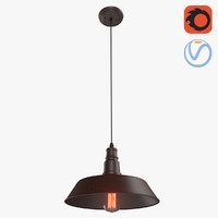 3D loft metal brown lamp