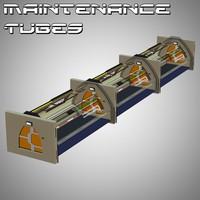 maintenance tubes poser 3D model
