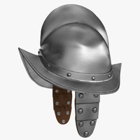 3D morion helmet wings model