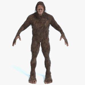 3D bigfoot big foot
