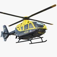 3D police eurocopter ec-135