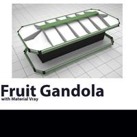 gondola fruit 3D model