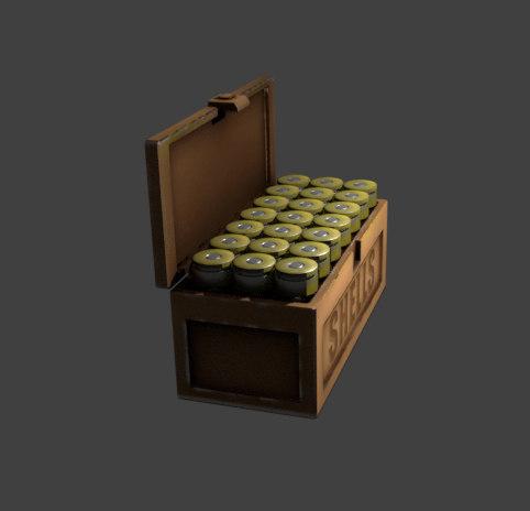 shotgun shell box 3D model