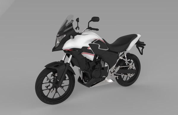 3D cb500x limited edition model