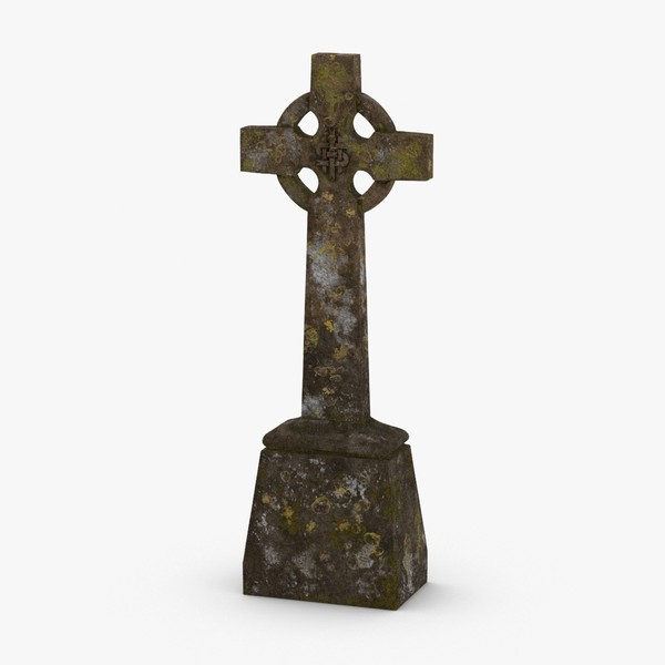 3D model headstone-crosses---cross-02