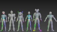 characters guyver 3D