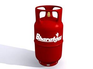 cylinder gas 3D model