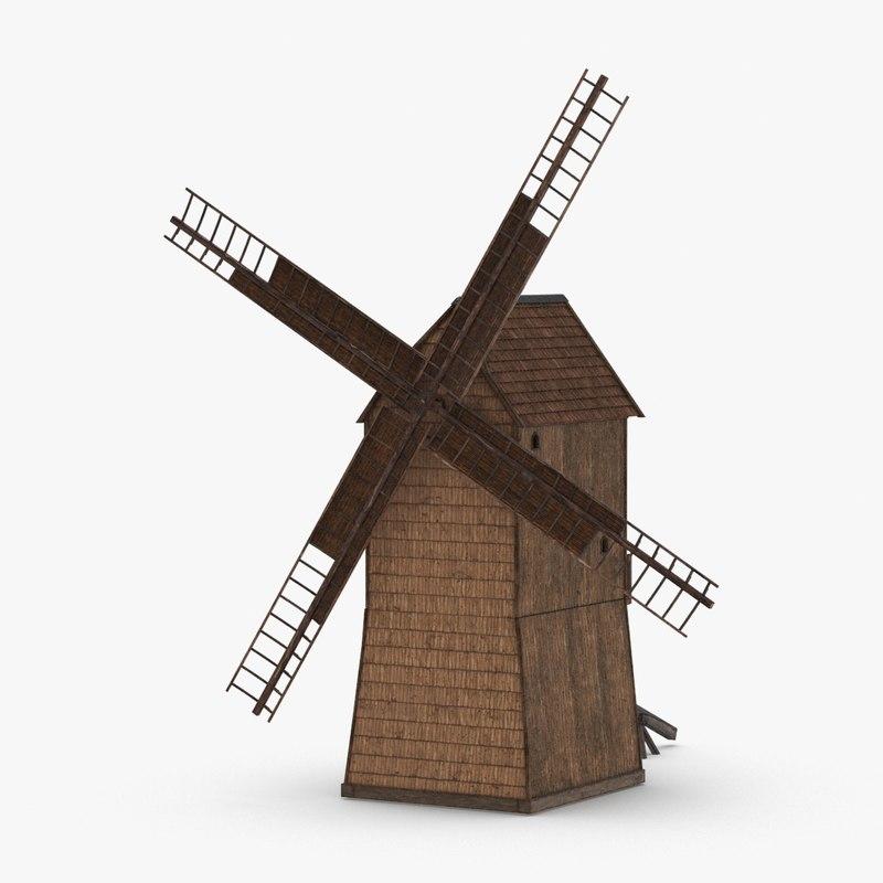 3D windmill-01 model