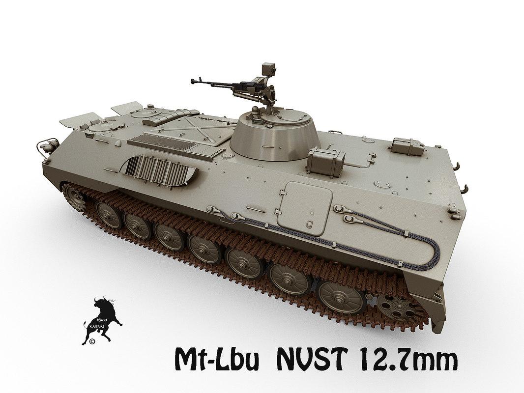3D model mt-lb nvst machine gun