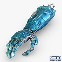 robot hand v 1 3D model