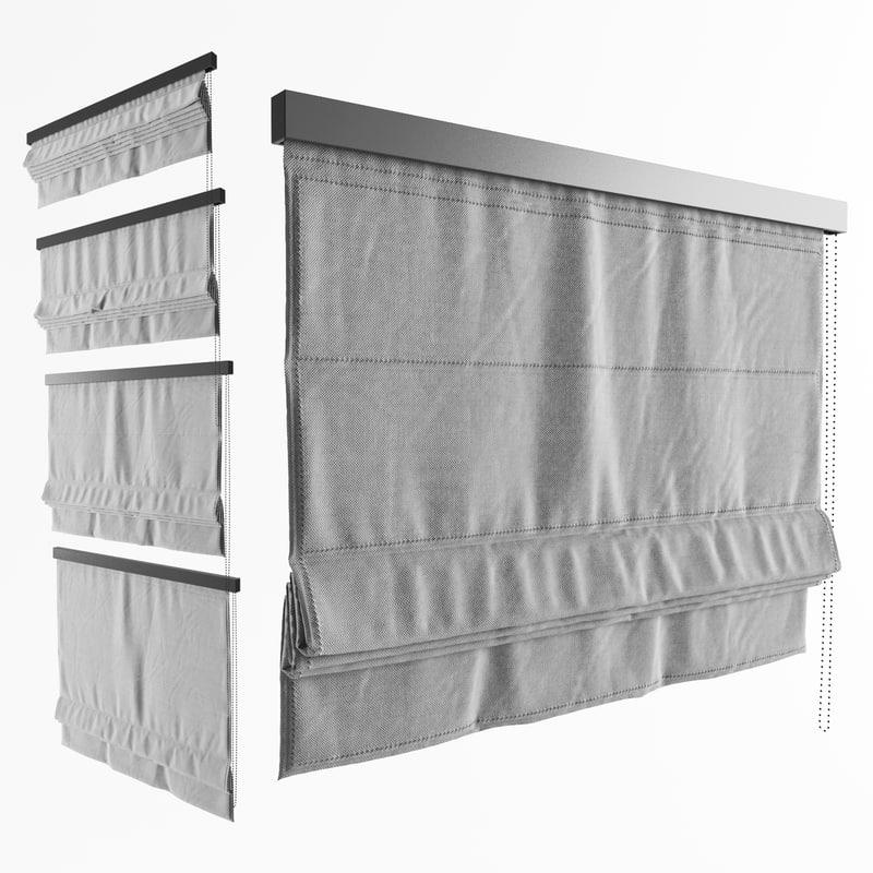 roman curtain shade model