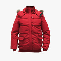 realistic red jacket 3D