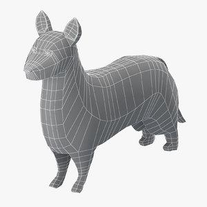 base mesh cardigan corgi 3D model