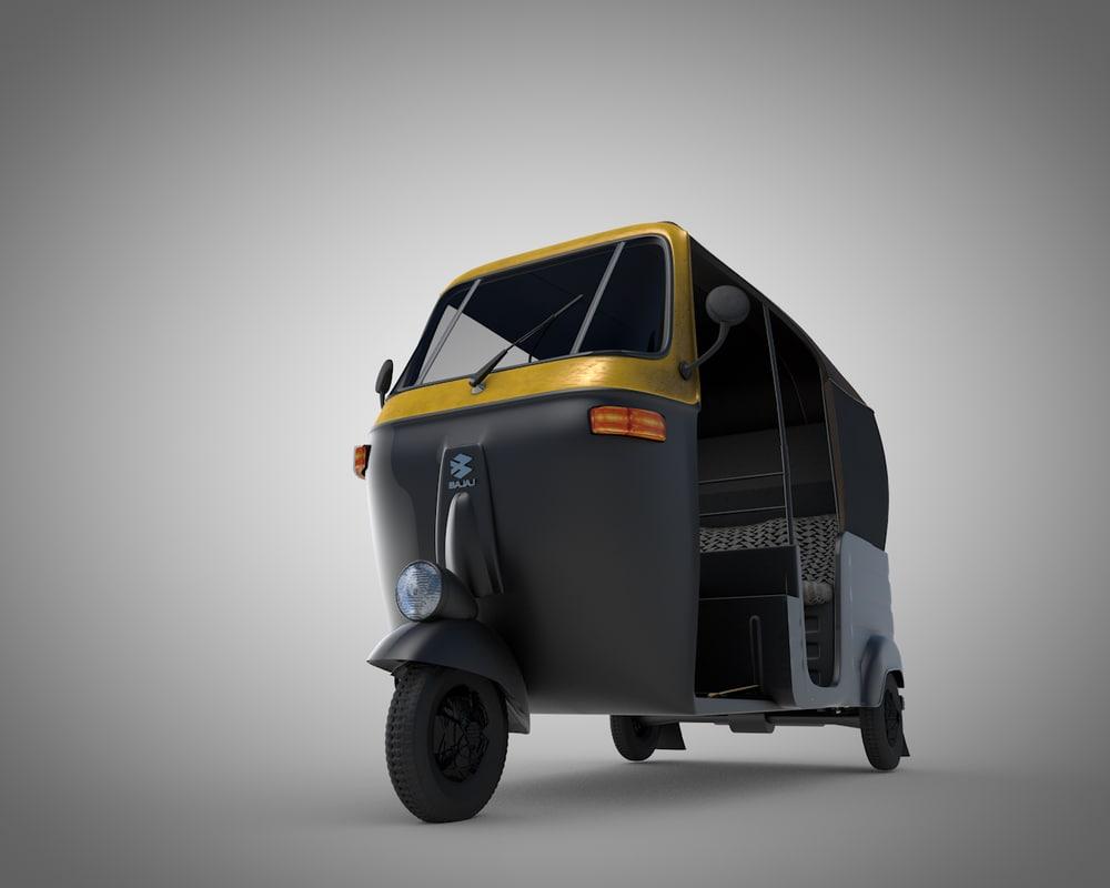 tok rickshaw baby 3D model