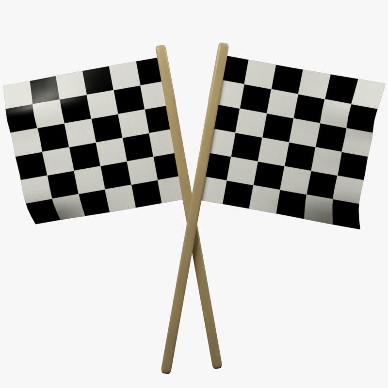 3D racing flags