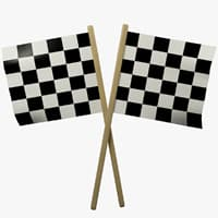 3D racing flags
