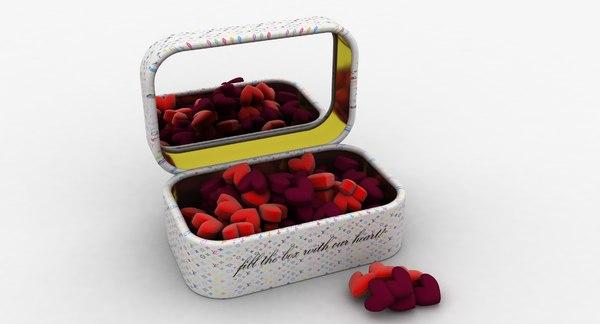 fillwith heart box 3D