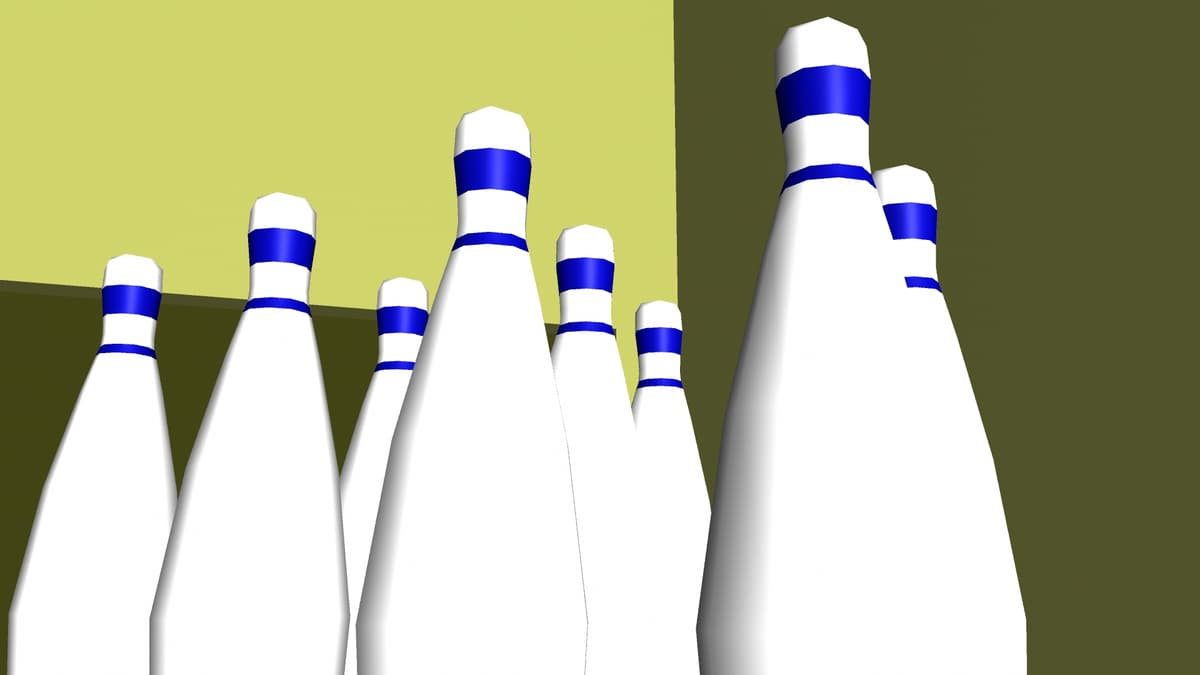 bowling stage 3D model