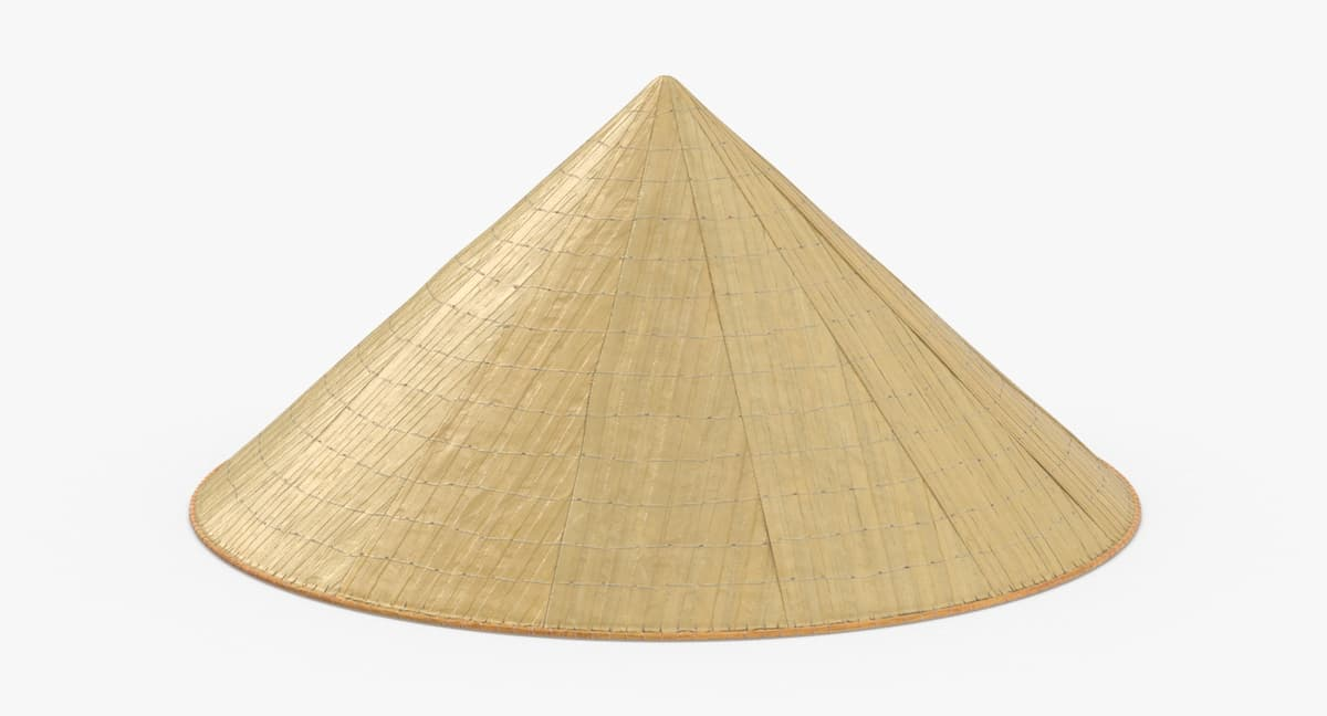 3D vietcong-rice-hat---on-ground