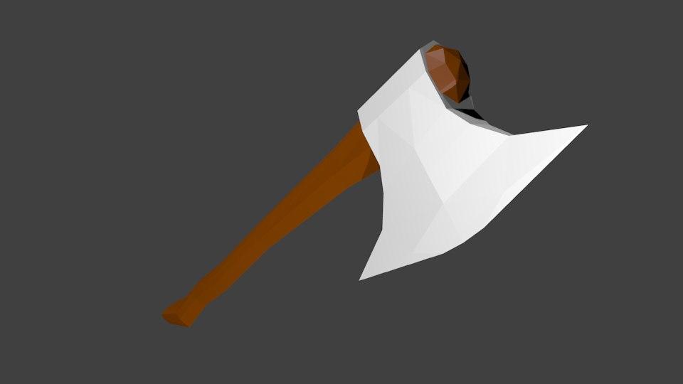 3D hatchet axe model