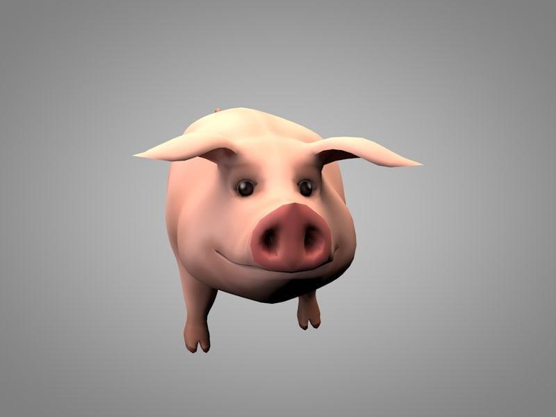 pig porky 3D