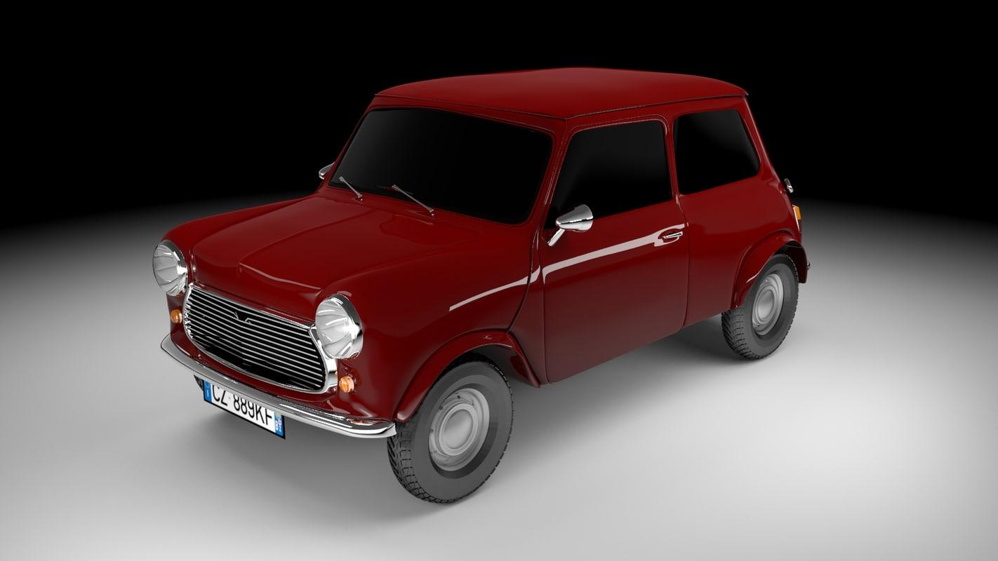 austin mini 1968 3D model