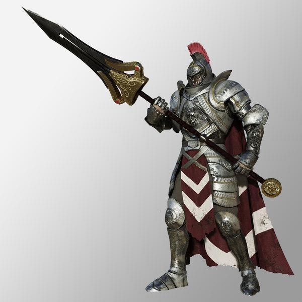 knight armor 3D