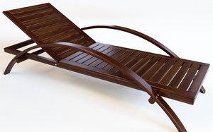 chaise longue lounge chair 3D model