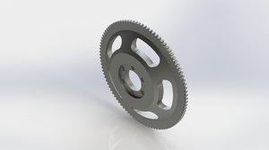 racing flywheel 3D model