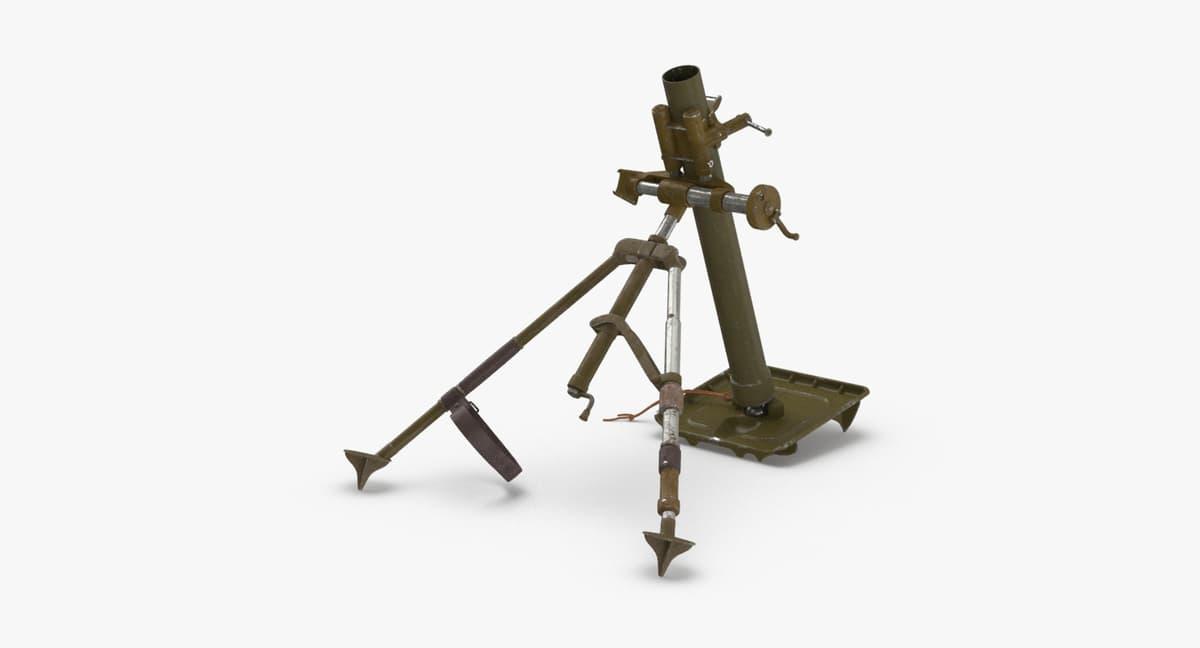 3D m2-mortar model