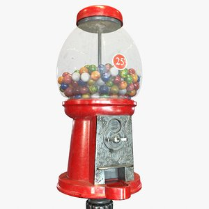 3D model ready gum ball machine