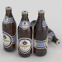 beer bottle gutmann 3D