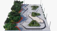 corona trees 3D model