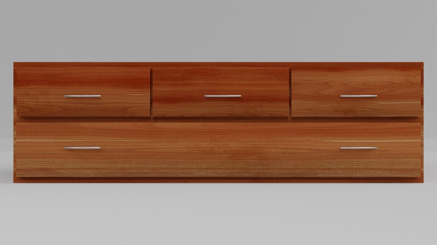 sideboard pbr 3D model