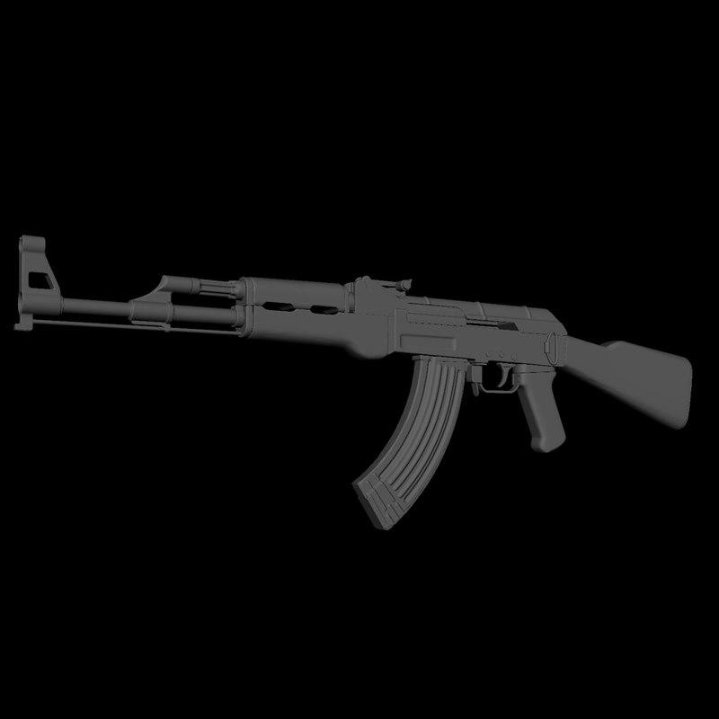 3D ak-47 decimation