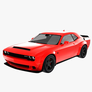 2018 dodge challenger 3D model