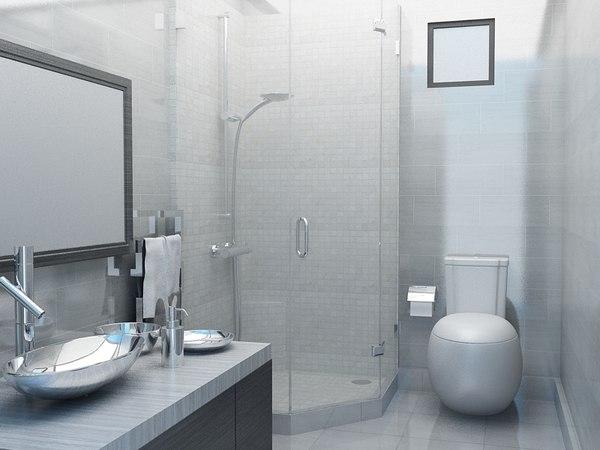 3D room shower model