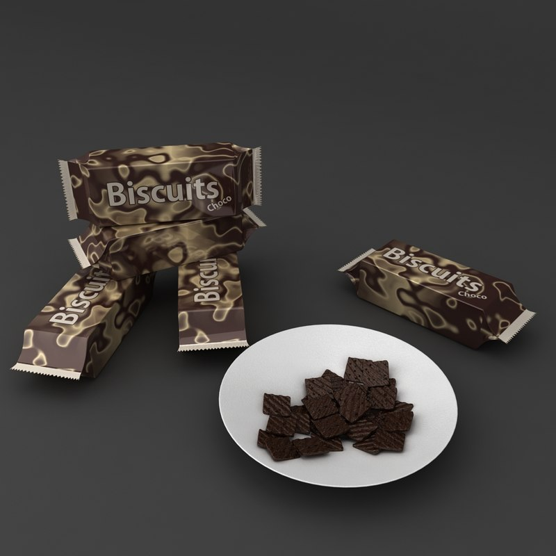 3D biscuit packets plate
