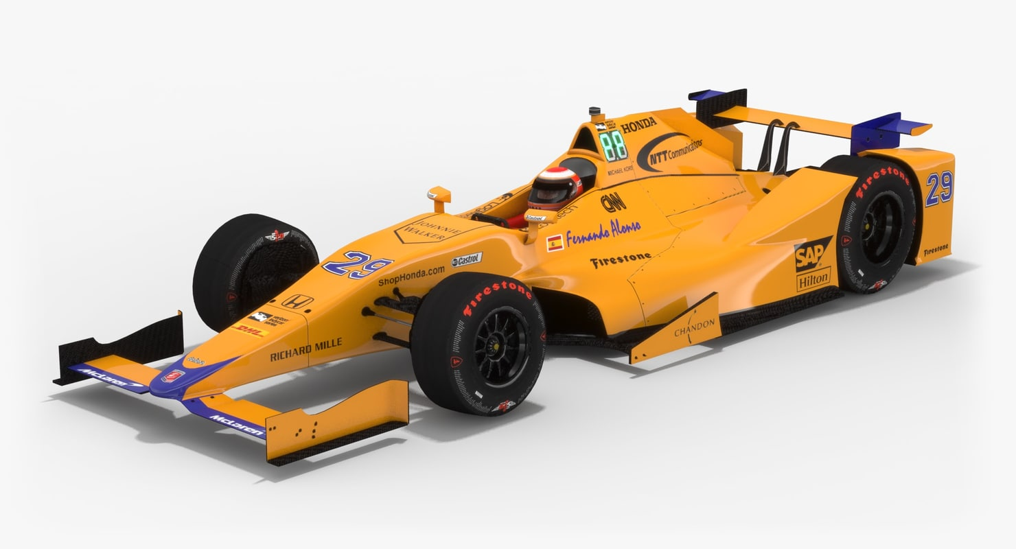indy season 2017 car 3D model