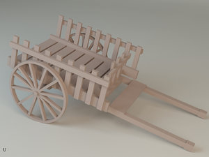 3D car cart wooden