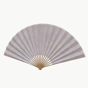 pbr 2 hand fans 3D model