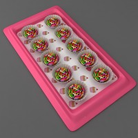 choco cupcake tray 3D model