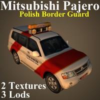 3D model mitsubishi pajero bor